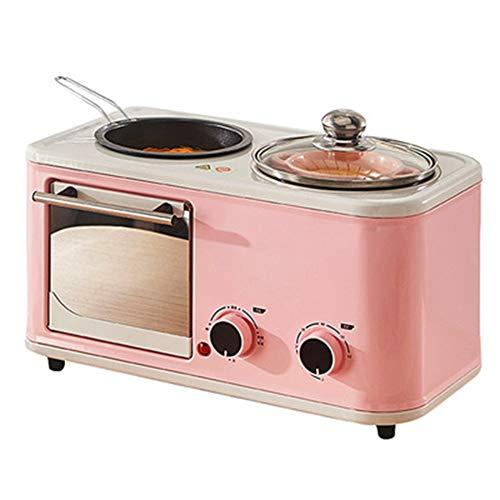 YHSFC Elektro 3 in 1 Haushalt Frühstück Maschine Minibrotrösters Backofen Omelett Pfanne heiß Potboiler Dampfgarer