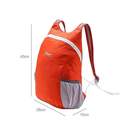 IOKHEIRA 10L Zaino Ultra-Light Zaino Pieghevole Zaino Packpack Daypack Tasca Nylon impermeabile Outdoor Sport Unisex Ciclismo Scuola Stile Escursionismo Trekking Camping Borsa da viaggio Arancione