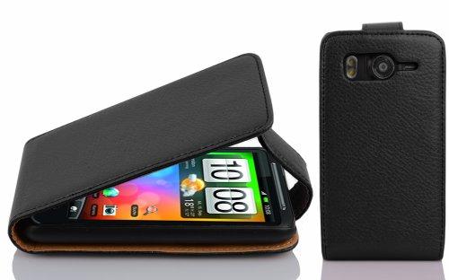 Cadorabo - Flip Style Hülle für HTC DESIRE HD - Case Cover Schutzhülle Etui Tasche in OXID-SCHWARZ