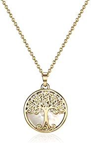 Mestige Women's Gold Willow Tree of Life Necklace - MSNE