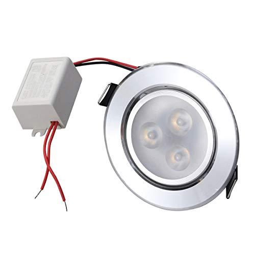 Uonlytech 8-9CM LED Deckeneinbauleuchten Strahler 5W Downlights Warmweißes Licht für Wohnzimmer Schlafzimmer Küche - Zufällige Farbe