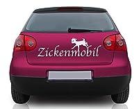 Autoaufkleber Zickenmobil B x H: 50cm x 16cm Farbe: königsblau von Klebefieber®