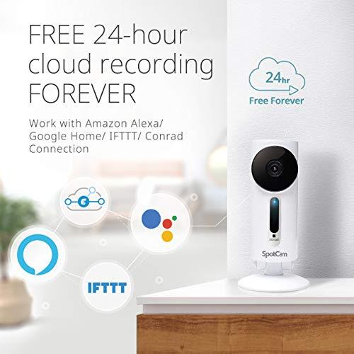 SpotCam 1080P Full-HD IP-Kamera – WLAN-Überwachungskamera Indoor mit Smart Home Integration - 5