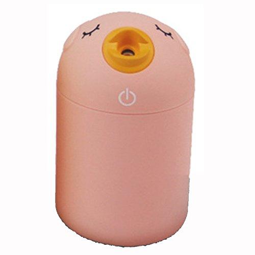 XGMSD USB Humidificador De Ondas Ultrasónicas Purificador De Aire El Tanque De Agua 180 Ml De Capacidad 12 Cm De Alto 7,2 Cm De Diámetro,Pink