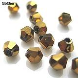 100 cuentas sueltas de ágata de Rhombus, cuentas de piedras preciosas al por mayor, hechas a mano, cuentas para collar, pulsera, bisutería, Golden, Medium
