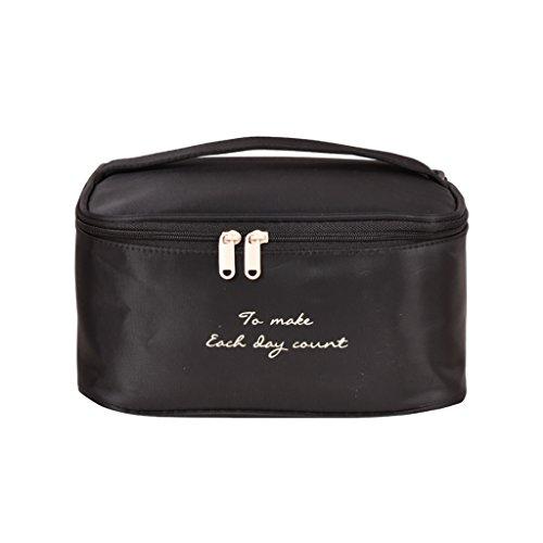 CLOTHES- Sacchetto cosmetico di viaggio sacchetto di immagazzinaggio ad alta capacità sacchetto cosmetico portatile multifunzione sacchetto di lavaggio separato ( Colore : Cielo blu ) Nero
