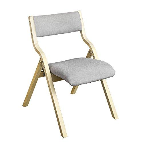 SoBuy FST40-HG Klappstuhl Küchenstuhl mit gepolsterter Sitzfläche und Lehne grau -