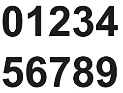 1 x Set of Black 0-9 Numbers - Removable Self Adhesive Waterproof Durable Vinyl Stickers - Cut to the sticker Shape - size 100mm