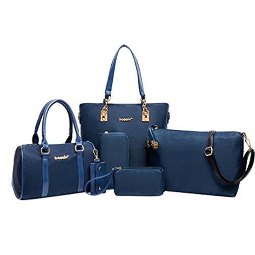 Kairuun Damen Handtaschen Große Henkeltaschen Satchel Crossbody Umhängetaschen Taschen Geldbörse mit 6 Stück Set 6 Tasche