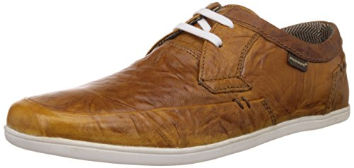 Red Tape Men's Tan Leather Sneakers (RTS5873C) - 9 UK