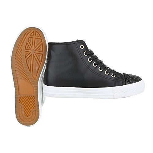 Ital-Design - Pantofole a Stivaletto Donna Nero