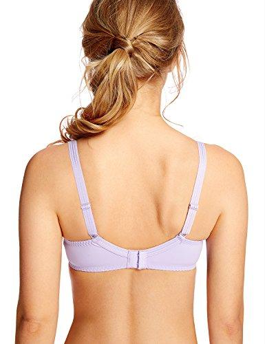 Delimira Damen Klassischer Bügel BH - Balkonett-Schnittform, Mit Spitze, Ohne Einlagen Lavendel