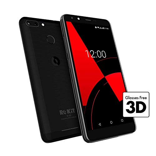 ROKiT IO 3D SIM-Free 16GB Android 8.1 Glasses-Free 3D HD+ 5.4'' Screen Smartphone with Value Added Services Best Price and Cheapest