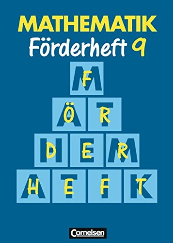 Mathematik. Förderheft 9, 6. Dr.