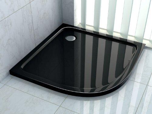 90x 90cuarto circular (Plato de ducha Ducha extraplano, 50mm Cuadrante...