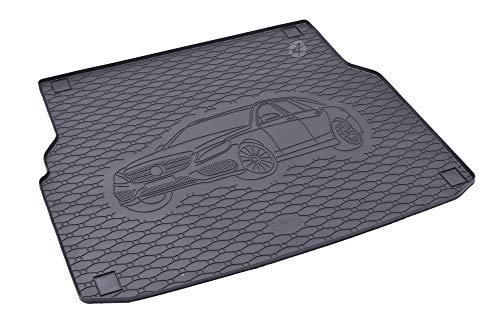 Kofferraumwanne ideal angepasst geeignet für Mercedes C-Klasse S205 Kombi ab 2014 Schwarz