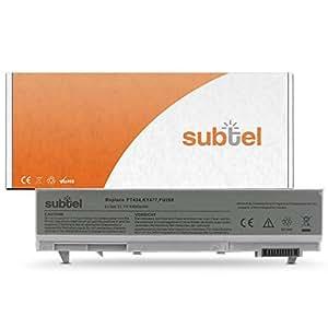 subtel® Batterie pour Dell Latitude E6400, E6410, E6510, E6500, Dell Precision M4500, M4400, M2400 - 4400mAh Batterie de rechange PT434, PT436, 451-11218, 451-10579, 312-0748, PP30L(A), PP27L(A), 1M215, NM631, KY477 Dell batterie remplacement