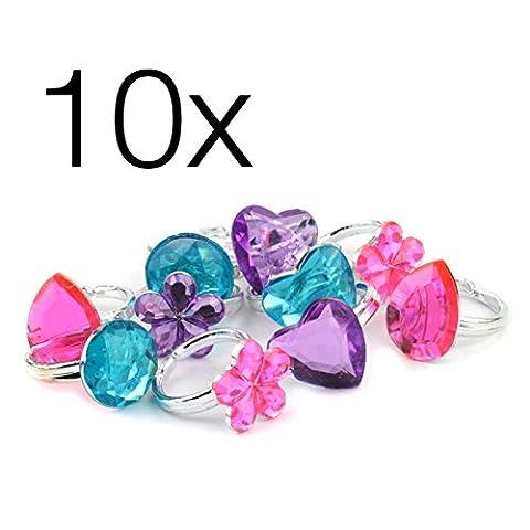 12x bague Bijoux pour enfants, le trésor des pirates, les filles et les garçons, les bijoux d'anniversaire des enfants en blister Groupe TK encaustique