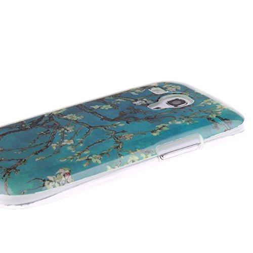 Samsung Galaxy S3 Mini hülle MCHSHOP Ultra Slim Skin Gel TPU hülle weiche Silicone Silikon Schutzhülle Case für Samsung Galaxy S3 Mini - 1 Kostenlose Stylus (Löwenzahn sich verlieben (Dandelions Fall  mandel blumen baum mit blauem hintergrund (almond flow