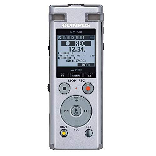Olympus DM-770 Silver 4GB Incl.NIMH Battery, V414131SE000 (Incl.NIMH Battery Sonority Audio Notebook Version, Case, Strap, USB Cable) 4 Gb Case
