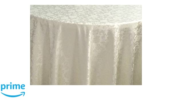 Event Decor Ivory 90 X 132 Rectangle Damask Banqueting Polyester