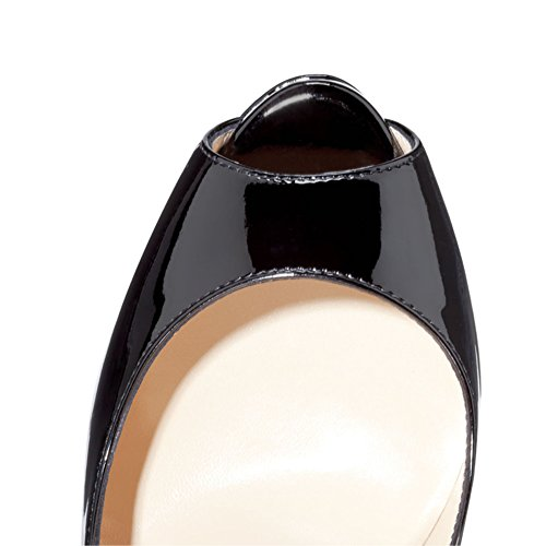 EKS - Scarpe con Tacco Donna Schwarz-beige bottom