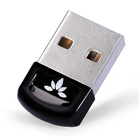 [2 Jahre Garantie] Avantree Bluetooth 4.0 USB Dongle Adapter Stick für PC mit Windows 10, 8, 7, XP, Vista, EINSTECKEN & EINSCHLATEN or IVT Treiber, Unterstützt BT Kopfhörer, Lautsprecher, Mäuse, Tastatur, etc. - DG40S