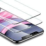 ESR Pellicola per iPhone 11/iPhone XR [2 Pezzi], Protezione Schermo Totale[Cornice per Installazione facilitata], Proteggi Schermo 3 Volte più Resistente per iPhone XR/ iPhone 11