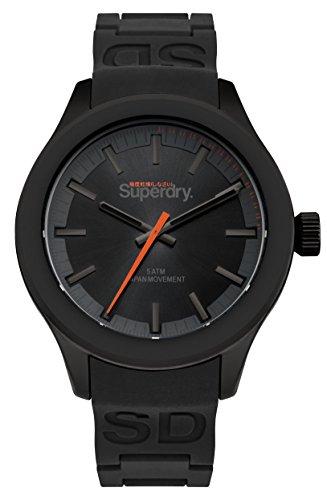 Superdry Herren Analog Quarz Uhr mit Silikon Armband SYG211EE