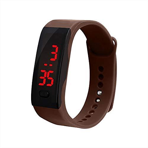 Uhren Damen Herren Armbanduhr LED Digitalanzeige Armbanduhr Kinder Studenten Silikagel Sportuhr Jogging Uhren Unisex Exquisit Uhr,ABsoar