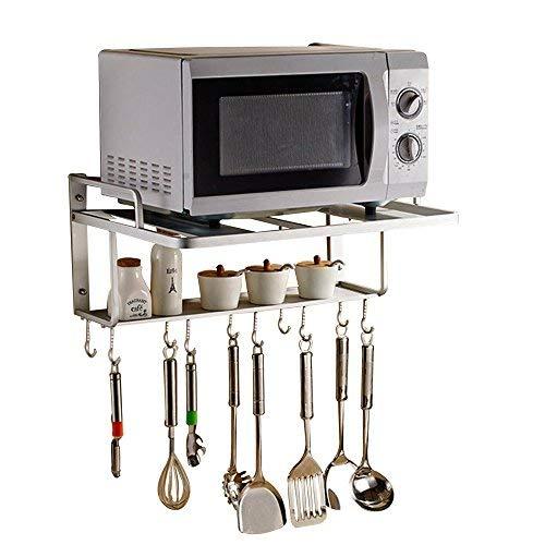 AcornFort Mikrowellenhalterung mit 2 Ablagen, Regal für die Küche, zum Aufhängen