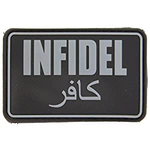 Airsoft Infidel Patch Rubber Patch Moral Patch Black Green Tan