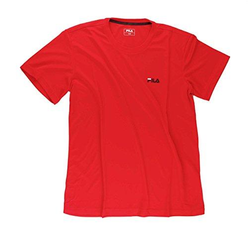 Fila Herren T-Shirt Logo Men, rot, M - Kinder Fila