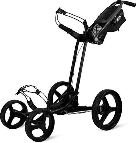 Sun Mountain Golf 2019 Pathfinder 4 Push Cart Black (Black,) - Von Push Golf Sun Mountain Cart