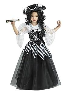 Clown Republic 08312/12 - Disfraz de Reina de los Mares, para niña, multicolor