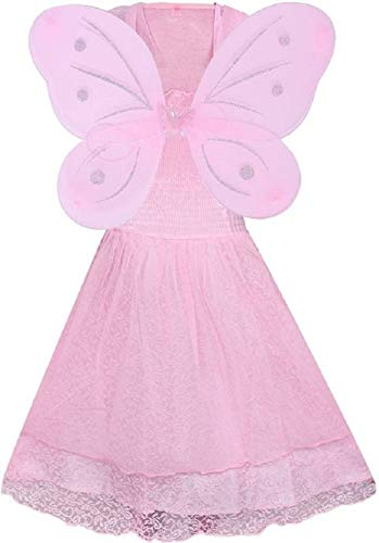 149346253282 74% OFF on Delhi collections Girls Angel Pari Dress (Pink