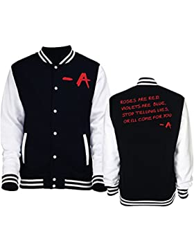 Giacca/felpa unisex Varsity tipo College Pll Roses Are Red -New Indastria - XL-NERA