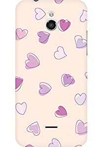 AMEZ designer printed 3d premium high quality back case cover for Infocus M2 (Cute Heart Pattern)