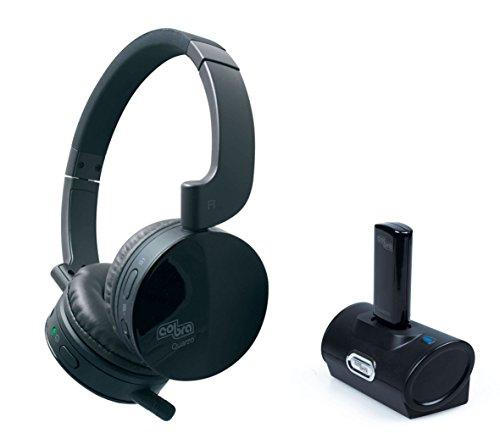 Cobra Quarzo Cuffie senza fili 2.4 GHz, per qualsiasi fonte Audio (TV, PC, HI-FI), Ricaricabile
