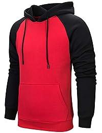 e4220ef70a9c Homme Sweat Shirt Pull avec Ficelle réglable à Manches Longues Casual Veste  de Sport Sweater