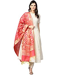b00ba8811ab ... Wear   Salwar Suits   Off-White. Inddus Cream Chanderi Cotton Self  Design Anarkali Suit Set with banarasi woven Dupatta (Fully-