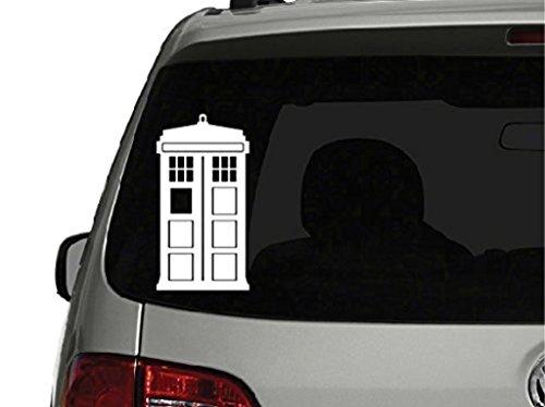 SUPERSTICKI® CCI CCI080 - Doctor Who Tardis Car Window Vinyl Aufkleber Decal Hintergrund/Maße in inch Sticker 5 Tall (Who Aufkleber Dr)