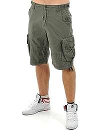 Pantalones cargo cortos Jesse James Industry Work Verde Oscuro