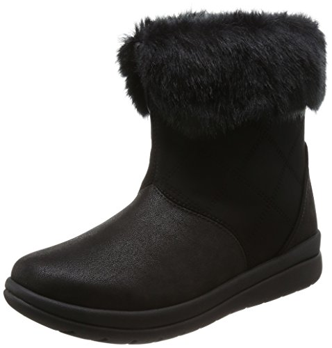 Clarks Women's Cabrini Reef Black Boots-3.5 UK/India (36 EU)(91261286724035)