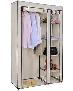 stoffschrank f r kleideraufbewahrung kleiderstange und 5. Black Bedroom Furniture Sets. Home Design Ideas