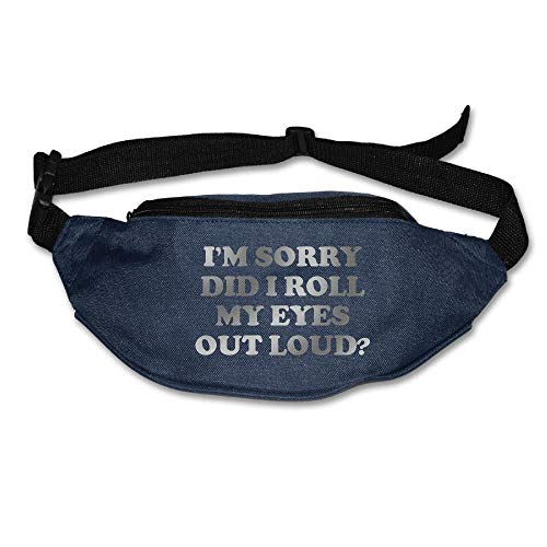 Unisex Pockets Did I Roll My Eyes Out Loud Fanny Pack Waist/Bum Bag Adjustable Belt Bags Running Cycling Fishing Sport Waist Bags Black