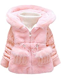 BBSMYA Baby Mädchen Jacke Mäntel Kleinkind Mädchen Winterjacke Kinderjacken  Fell Warm Winter Coat Mantel Jacke Dicke abd6417bd2