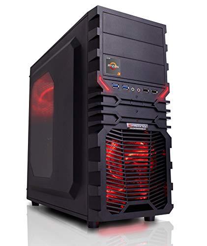 dercomputerladen Gaming Aufrüst PC VG4 Rot AMD Ryzen 7-2700X 8x3.7 GHz - 16GB DDR4, ohne onBoard Grafik, eigenständige Grafikkarte notwendig, Spiele Computer Rechner
