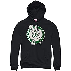 Mitchell & Ness Boston Celtics Logo NBA – Sudadera con capucha negro, extra-large