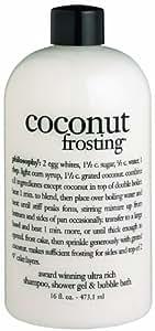 Coconut Frosting - Ultra Rich Shampoo Shower Gel & Bubble Bath 473.1ml/16oz